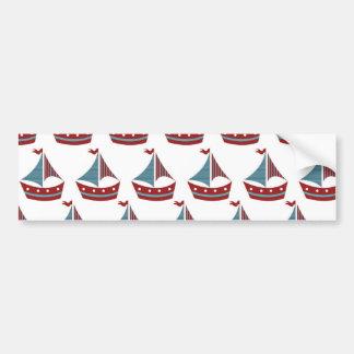 Copie patriotique de bateau à voile autocollant pour voiture