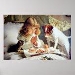 Copie : Petit déjeuner dans le lit : Fille, Fox Te Posters