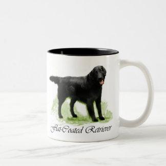 Copie Plat-Enduite d'art de chien d'arrêt Tasse 2 Couleurs
