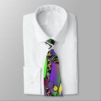 Copie psychédélique d'art de masque de mardi gras cravates