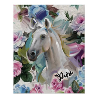 "Copie ""pure"" d'art de cheval poster"