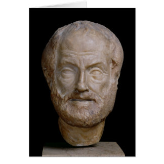 Copie romaine d'Aristote d'un original grec Carte De Vœux