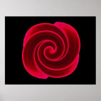 Copie rouge de fleur de remous posters