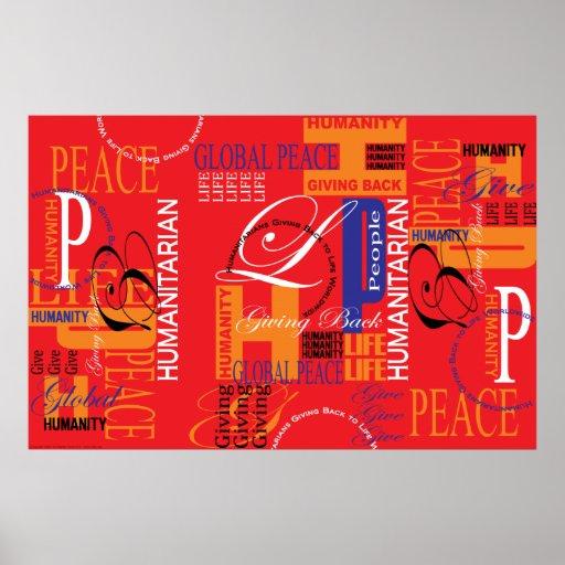 Copie rouge humanitaire de graffiti posters