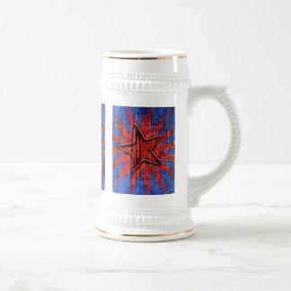Copie rustique fraîche d'art de bruit d'étoile chope à bière