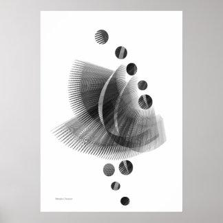 Copie sensible noire et blanche poster