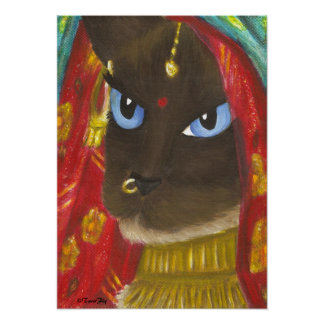 Copie siamoise de chat de Sari Posters