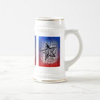Copie solitaire rustique fraîche d'art de bruit chope à bière