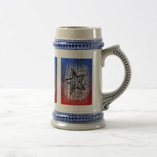Copie solitaire rustique fraîche d'art de bruit d' mugs à café