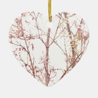 Copie texturisée de nature ornement cœur en céramique