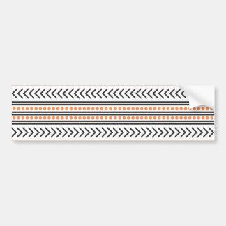 Copie tribale aztèque à la mode Pattern|Orange Autocollant De Voiture