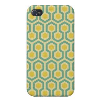 Copie tribale géométrique de motif de nid d abeill coques iPhone 4/4S