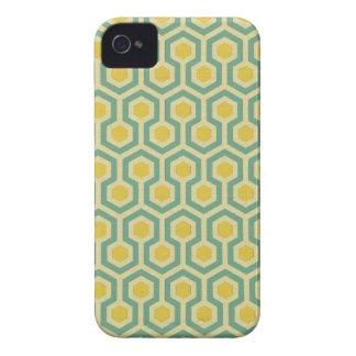 Copie tribale géométrique de motif de nid d'abeill coques Case-Mate iPhone 4