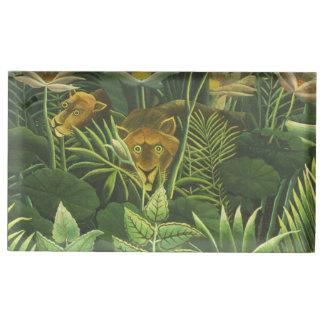Copie tropicale d'art de lion de jungle de porte-numéro de table