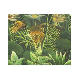 Copie tropicale d'art de lion de jungle de toiles