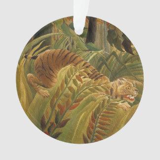 Copie tropicale d'art de tigre de jungle de