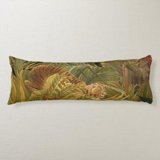 Copie tropicale d'art de tigre de jungle de coussins longs