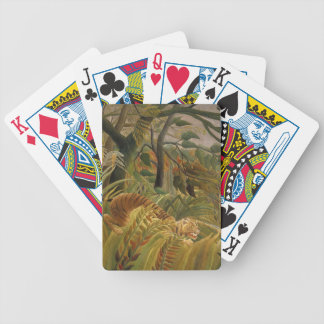 Copie tropicale d'art de tigre de jungle de jeu de cartes