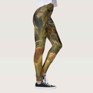 Copie tropicale d'art de tigre de jungle de leggings