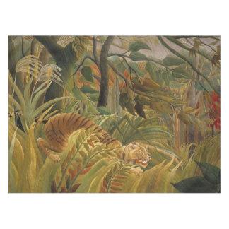 Copie tropicale d'art de tigre de jungle de nappe