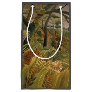 Copie tropicale d'art de tigre de jungle de petit sac cadeau