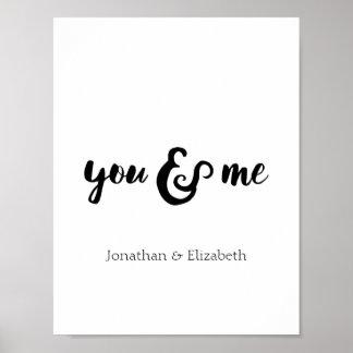 Copie typographique romantique personnalisée poster