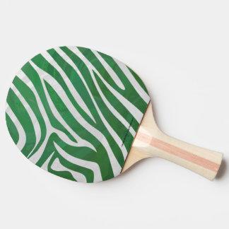 Copie verte et blanche de zèbre raquette tennis de table