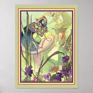 Copie vintage Alice et Caterpillar 12 x 16 Poster