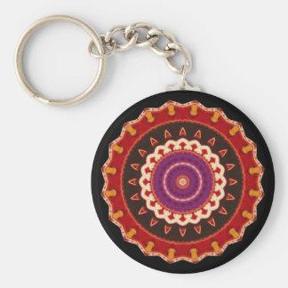 Copie vintage culturelle, tribale, indienne, porte-clé rond