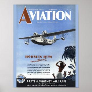 Copie vintage d'art de couverture d'avion de poster