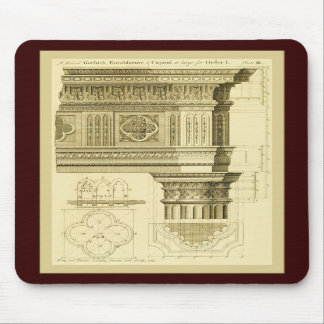 Copie vintage de beaux-arts de ~ d'architecture go tapis de souris