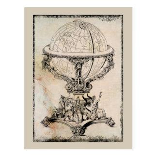 Copie vintage de carte de globe du monde