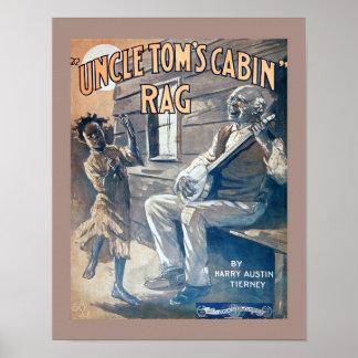 Copie vintage de chiffon de cabine d'oncle Tom de Poster