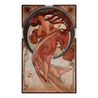Copie vintage de danse d'Alphones Mucha Posters
