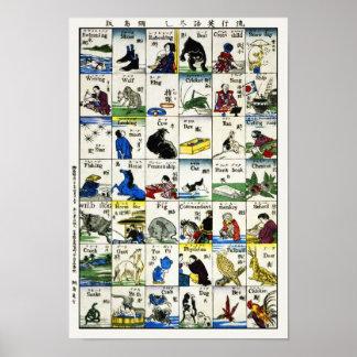 Copie vintage de Japonais : Mots japonais et Posters