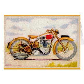 Copie vintage de moto cartes de vœux