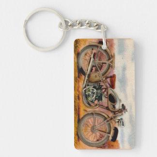 Copie vintage de moto porte-clefs