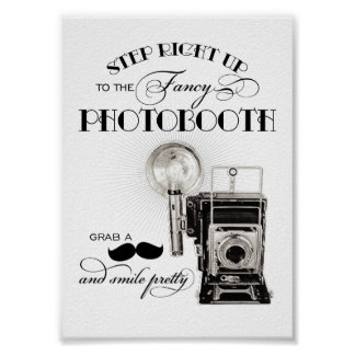 Copie vintage de réception de mariage du signe | d poster