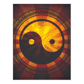 Copie vintage de symbole de Yin Yang Carte Postale