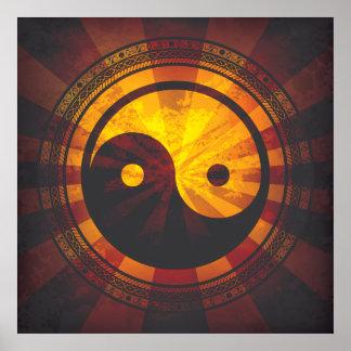 Copie vintage de symbole de Yin Yang Posters