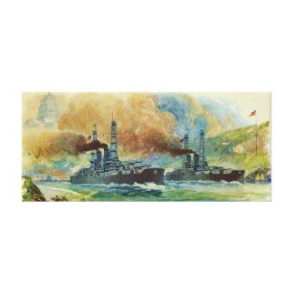 Copie vintage de toile de cuirassé de WWI