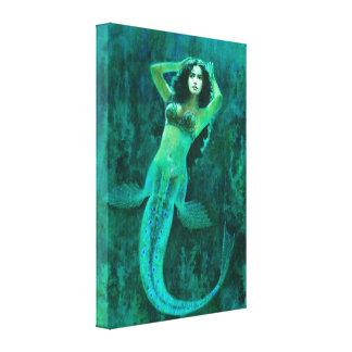 Copie vintage de toile de sirène