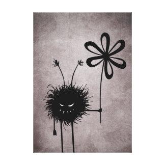 Copie vintage de toile d'insecte mauvais de fleur