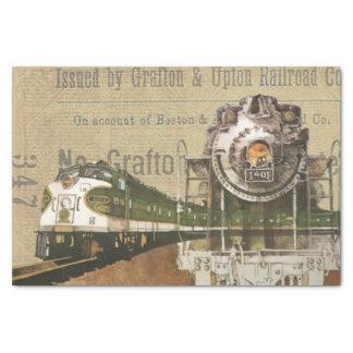 Copie vintage de train papier mousseline