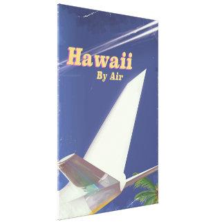 Copie vintage de vacances de vol d'Hawaï Toile