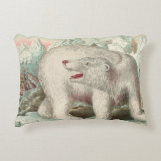 Copie vintage d'ours blanc coussins décoratifs