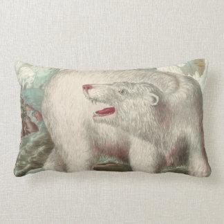 Copie vintage d'ours blanc oreiller