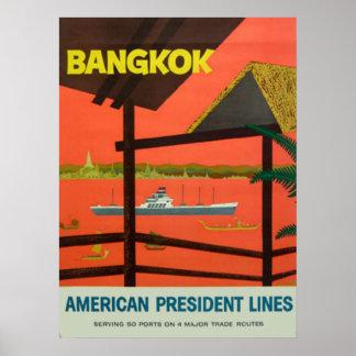 Copie vintage vintage de Bangkok Poster
