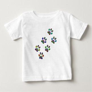 Copies animales de patte d'amusement t-shirt pour bébé