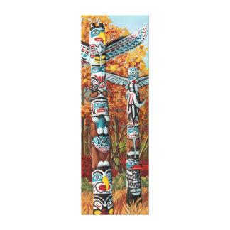 Copies de toile de peinture de mâts totémiques